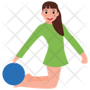 Bending Leg Folding Legs Yoga Pose Icon