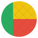 Benin National Country Icon