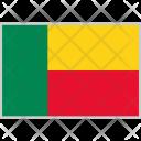 Benin Flag Country Icon