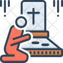 Bereaved Graveyard Funeral Icon