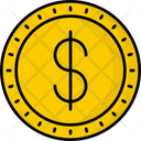 Bermuda Dollar Coin Money Icon