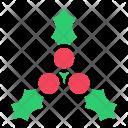 Berries Cherries Leaves Icon