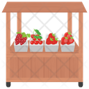 Berries Shop Fruit Stall Street Stall Icon