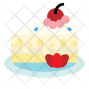 Berry Cake With Icon