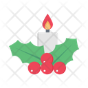 Berry Candle Christmas Icon
