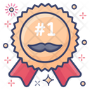 Best Dad Dad Badge Ribbon Icon