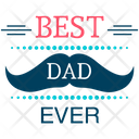 Happy Fathers Day Fathers Day Logo Best Dad Badge Icon