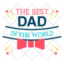 Happy Fathers Day Best Dad Badge Fathers Day Badge Icon