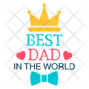 Happy Fathers Day Best Dad Label Fathers Day Badge Icon
