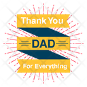 Happy Fathers Day Best Dad Logo Fathers Day Badge Icon