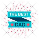 Happy Fathers Day Best Dad Sticker Fathers Day Badge Icon