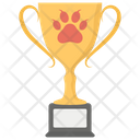 Dog Trophy Dog Prize Cup Pet Award Icon