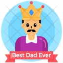 Best Dad Best Father King Father Icon
