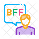 Human Talking Bff Icon