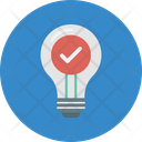Best Idea Picking Light Bulb With Check Mark Select Idea Icon
