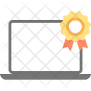 Laptop Computer Ribbon Badge Icon