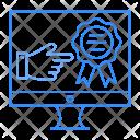 Screen Monitor Badge Icon