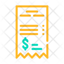 Betting Receipt Color Icon