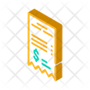 Betting Receipt Isometric Icon