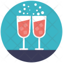 Wine Glasses Beverage Icon