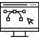 Bezier Design Mode Icon
