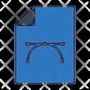 Bezier Curve Design Icon