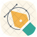 Bezier Illustrator Design Icon