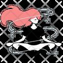 Yoga Sport Girl Icon
