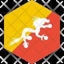 Bhutan Flag World Icon