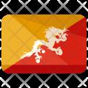 Bhutan Flag Country Icon
