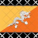 Flag Country Bhutan Icon