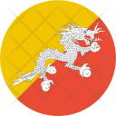 Bhutan Flag World Icon