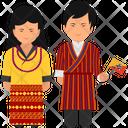 Bhutan Outfit Bhutan Clothing Bhutan Dress Icon