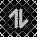Bi direction Arrow Icon