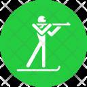 Biathlon skiing Icon