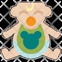 Bib Kid And Baby Baby Cloth Icon