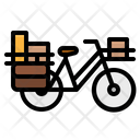 Bicycle Touring Postman Icon