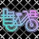 Bicycle Touring Postman Icon