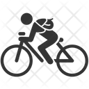 Bicycle Bicyclist Cyclist Icon