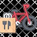 Bicycle Bag Food Icon