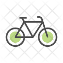Bicycle Green Energy Icon
