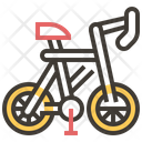 Bicycle Icon in Dualtone Style