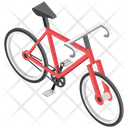 Bicycle Icon in Isometric Style