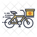 Bicycle Delivery Logistic Delivery Courier Service Icon