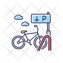 Bicycle Parking Rack Icon