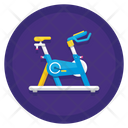 Bicycle Simulator Fitness Tracker Equipment Icon