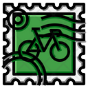 Bicycle Stamp Icon