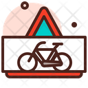 Bicycle Warning Icon