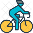 Bicycling Cyclist Road Icon