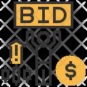 Bid Investment Auction Icon